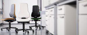 Neón silla de laboratorio