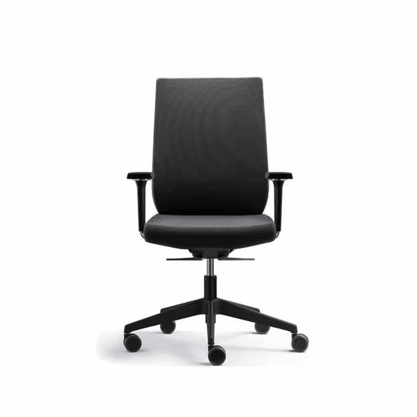 Silla de trabajo Eben asiento y respaldo tapizado. - 3C Equipamientos