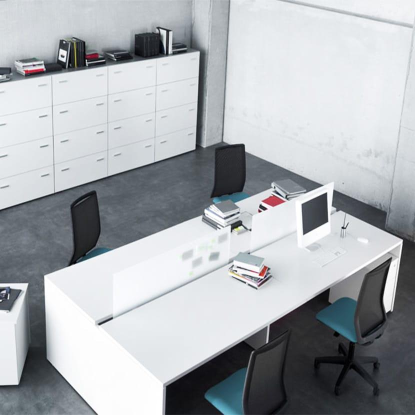 Mesa de oficina Bench de dos puestos Blok