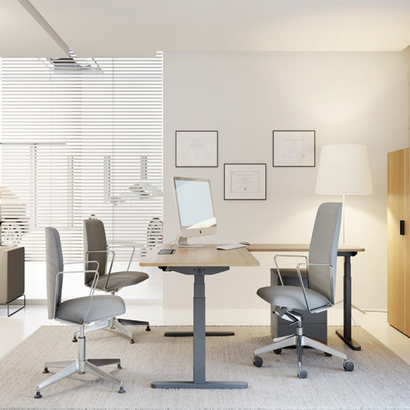 Mesa de oficina SKALA regulable en altura
