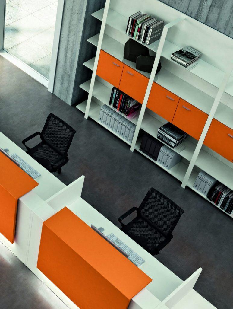 Color en muebles de oficina