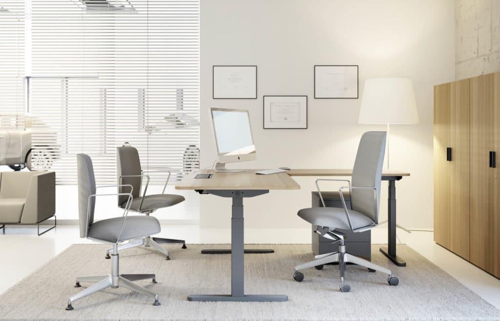 tonos claros u oscuros para muebles de oficina regulables en altura